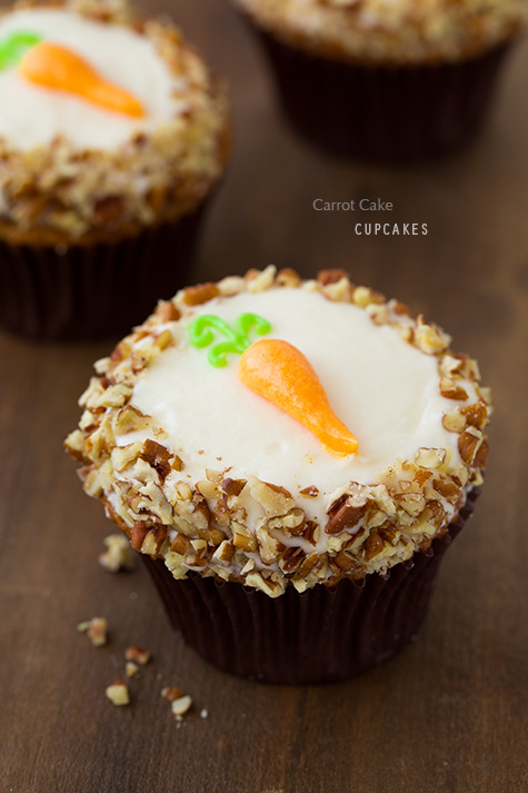 stuffed carrot cake cupcakes